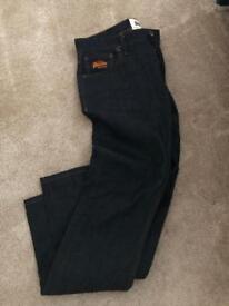 Men's navy super dry jeans
