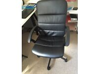 OFFICE DESK & leather chair