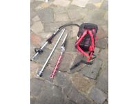 Petrol back pack hedge cutter