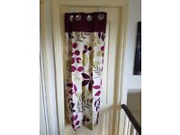 Plum curtains and 4 cushion covers
