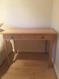 Solid wooden desk. Two drawers