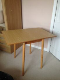 Dining table for 2, with folding wings