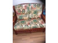 Conservatory 2 armchairs and settee (delivery available)