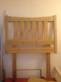 Headboard natural wood for Single Bed