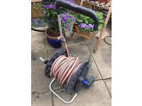 Gardena hose with Reel trolley