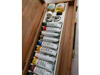 CLEARANCE Barely Used Oil Paints with Box