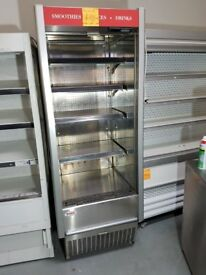 NARROW STAINLESS STEEL FRIDGE DISPLAY MULTI DECK DRINKS FRIDGE (70CM) AST183