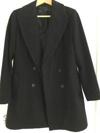 Zara black wool coat size L 12
