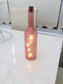 Light up star bottle