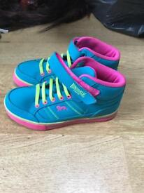 Girls Lonsdale hi tops brand new size 13