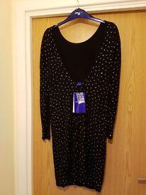 Jimmy choo limited addition black dress