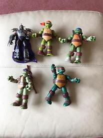 Ninja turtle power sound fx figures x 5