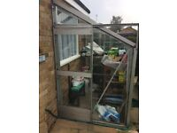 Free for Collection - Aluminium Lean-to Greenhouse