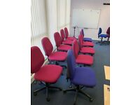 Claret Swivel Operator Office Meeting Room Chairs
