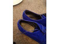 Blue gents shoes size 7