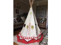 Kids Wig Wam, Tee Pee, Play house. Excellent Condition
