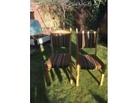 X2 dining chairs