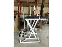 Olympic Plate Loaded Reverse Hyperextension Machine - Weights Gym