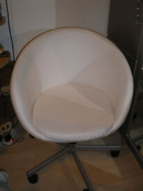 Ikea SKRUVSTA Off White Swivel Chair
