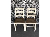 2 x Barker & Stonehouse Dining Table Chairs