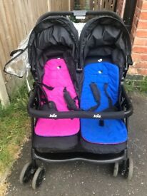 Jole double push pram