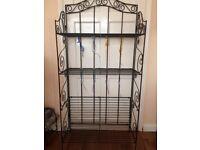 Wrought iron style baker's rack / shelf