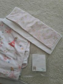 John Lewis Little Home cot / cotbed duvet cover and pillow