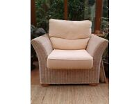 Wicker, Rattan conservatory set. Two seater Sofa and two arm chairs. Excellent Condition. Beautiful!