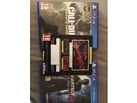 Ps4 games uncharted 4 + call of duty infinite warfare