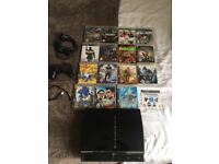 PS3 SONY PLAYSTATION3 80GB. excellent condition with minor scratches. 15 amazing games & power cable