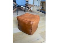 Arrah leather ottoman Chair