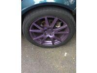 R17 205 50 Set of 5 whit good tyres