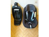 Maxi-Cosi 2wayPearl and 2wayFix baby car seat system. Hardly used in grandparents' car