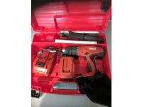 HILTI 22AMP CORDLESS DRILL INCLUDES 1 NO 3.3 AMP BATTERY, CHARGER AND CASE