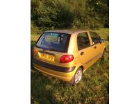 Daewoo Matiz with low mileage or swap/barter
