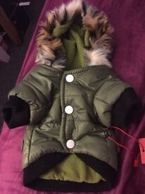 Brand new dog parka coat