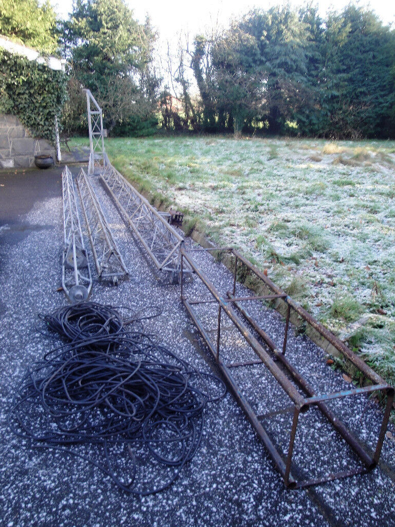 Western 3 Stage Windup Tilt Over Radio Mast Tower Rotator Cage Head Unit  Coax Cables Ham Radio Tower | in Antrim, County Antrim | Gumtree