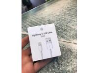 Apple iPhone lightning cables and 2.1a charging blocks