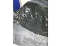 2 Black double sheet along with one double quilt cover - Free for collection only