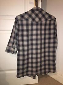 All Saint cotton 3/4 western medium shirt