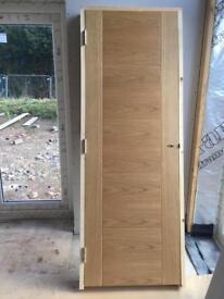 Solid Oak Door cassette and door frame