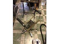 Retro barber/hairdresser client chair