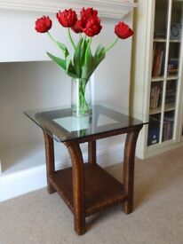 John Lewis Glass Side Table