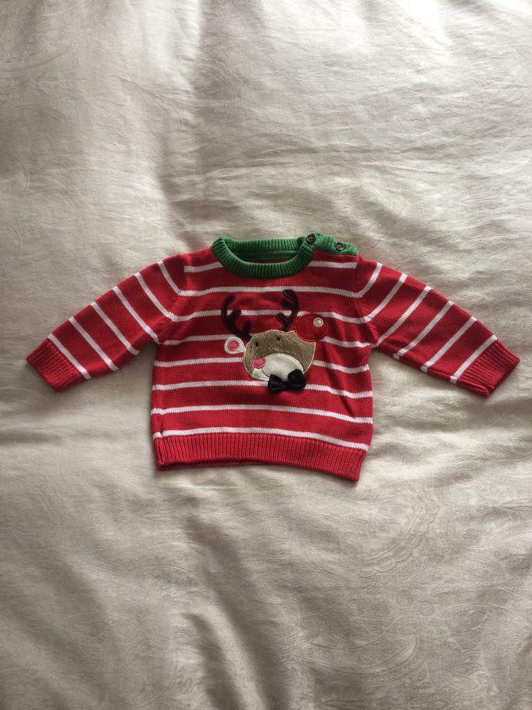 Christmas Jumper and sleepsuit 3-6months
