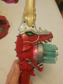 Power rangers sword and mask