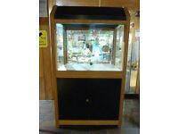 Three Wood/Glass Lockable Display Cabinets - ideal for shops and retails outlets