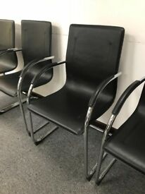 Black and silver chairs x19