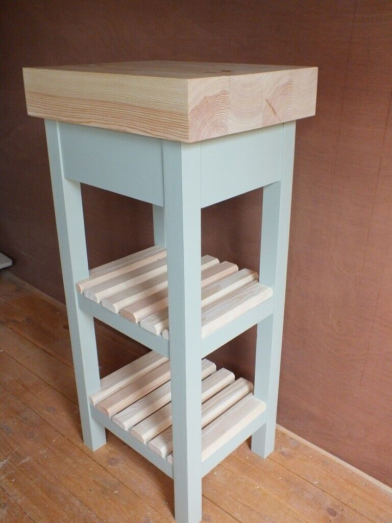 French Grey Butcher S Block Style Country Kitchen Island Table With 2 Shelves In Brigg Lincolnshire Gumtree