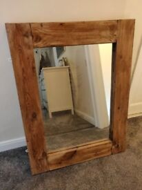 Large Chunky Rustic Wood Mirror - £60