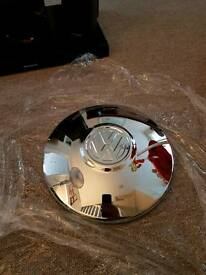 Vw genuine flat chrome hubcap